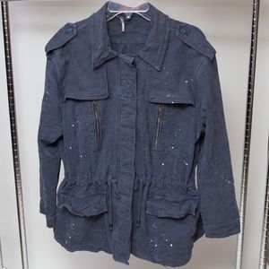 Free People Distressed Utility Jacket Size Medium